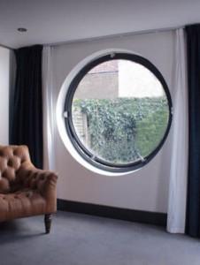 1490mm diameter circular window - inside view