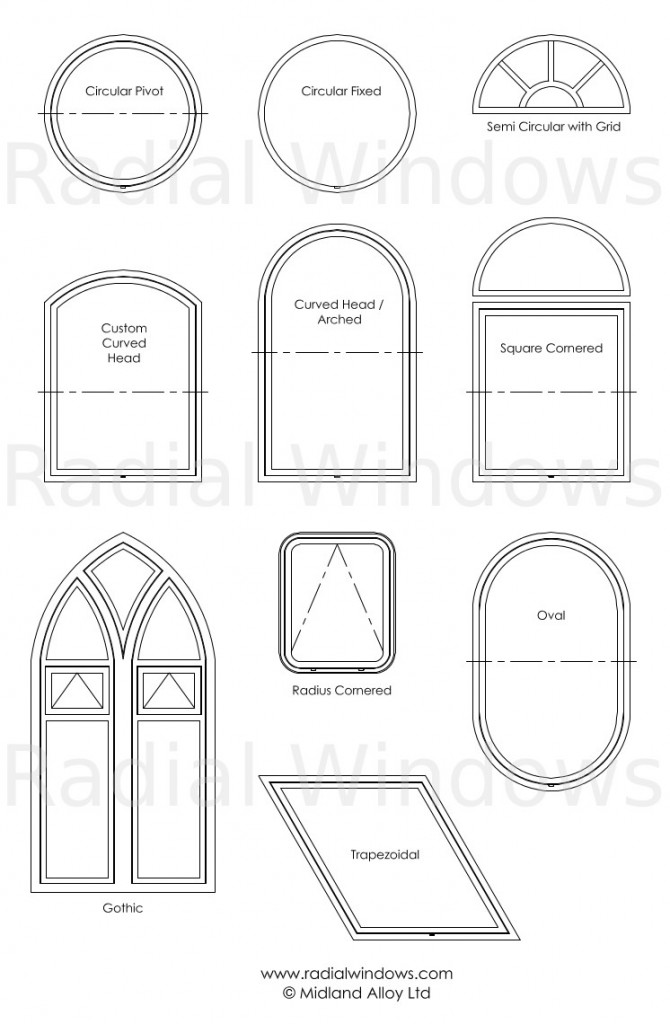 Shaped Windows Portfolio - Arched window, Round window, Gothic Window
